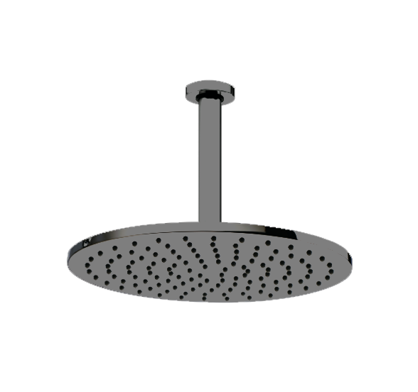 Deszczownica sufitowa COSMO czarny mat fi 280mm ramię L-300