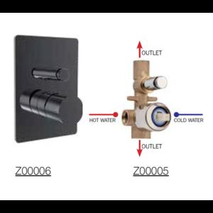 Bateria podtynkowa czarny mat mieszacz 2 drożna