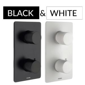 black&white Bateria podtynkowa OKI termostat 3